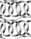 Sömlös modell för vektor av punkterade band Royaltyfri Fotografi