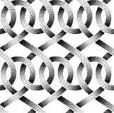 Sömlös modell för vektor av punkterade band Royaltyfri Foto