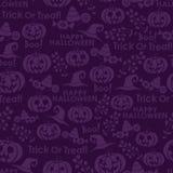 Sömlös modell för vektor för halloween Arkivbilder