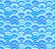 Sömlös modell för vektor: Havsvågor, turkosblåttsommarbakgrund royaltyfri illustrationer