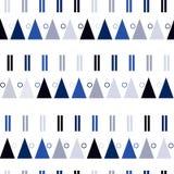 Sömlös modell för vektor i modern skandinavisk stil Geometribakgrund Royaltyfri Fotografi