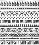 Sömlös modell för vektor i stam- stil Abstrakt kvartertryck royaltyfri illustrationer
