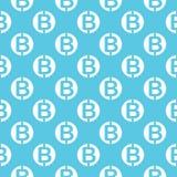 Sömlös modell för vektor med bitcoins Fotografering för Bildbyråer