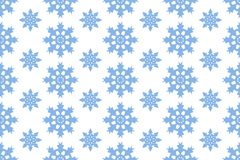 Sömlös modell för vektor med blåa snöflingor Vinterbakgrund med fallande snö på vit vektor illustrationer