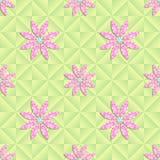 Sömlös modell för vektor med blommor Royaltyfri Illustrationer