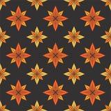 Sömlös modell för vektor med dekorativa stjärnor för tappning Royaltyfria Foton