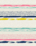 Sömlös modell för vektor med färgrika prickar stock illustrationer