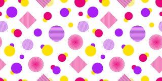 Sömlös modell för vektor med geometriska former Modern upprepad textur Abstrakt bakgrund i ljusa färger kulört vektor illustrationer