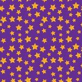 Sömlös modell för vektor med guld- stjärnor royaltyfri illustrationer