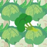 Sömlös modell för vektor med hand drog grönsaker Lantgårdmarknadsprodukter E Enkel vegetarisk mat vektor illustrationer