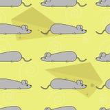 Sömlös modell för vektor med möss stock illustrationer