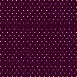Sömlös modell för vektor med prickar av guld och mörker Royaltyfria Bilder