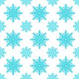 Sömlös modell för vektor med snöflingor Royaltyfri Foto