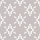 Sömlös modell för vektor med snöflingor vinter för blåa snowflakes för bakgrund vit Vektor Illustrationer