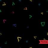 Sömlös modell för vektor med trianglar Royaltyfri Fotografi