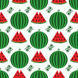 Sömlös modell för vektor med vattenmelon vektor illustrationer
