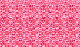 Sömlös modell för vektor, orientalisk bakgrund, Sakura Petals Abstract Shapes royaltyfri illustrationer