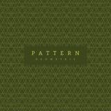 Sömlös modell för vektor som är geometrisk på grön bakgrund royaltyfri illustrationer