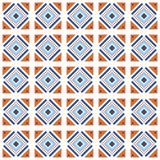 Sömlös modell för vektor som belägger med tegel med olika geometriska former i enkel stil Arkivfoton