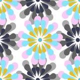 Sömlös modell för vektor, stiliserade blommor royaltyfri illustrationer