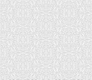 Sömlös modell för vit 3D, arabiskt motiv, östlig prydnad vektor illustrationer
