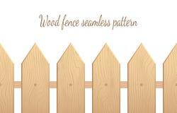 Sömlös modell för Wood staket Stock Illustrationer