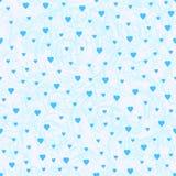 Sömlös modell från de blåa hjärtorna och den abstrakta bakgrunden Arkivfoto