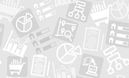 Sömlös modell från forskning- och analyticssymboler Arkivfoto