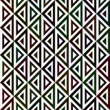 Sömlös modell från trianglar i olika färger Arkivfoto