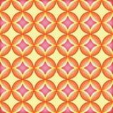 Sömlös modell, geometrisk modell, abstrakt begrepp, rundamodell Modern stilfull textur, modell med apelsinen och rosa färgprydnad Arkivbild