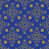 Sömlös modell i den gotiska stilen Royaltyfri Bild