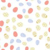 Sömlös modell med ägg bakgrund färgade vektorn för tulpan för formatet för easter ägg eps8 den röda vektor stock illustrationer