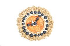 Sömlös modell med blåbäret och den torkade grapefrukten Arkivfoton
