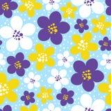 Sömlös modell med blom- utsmyckat för färg Royaltyfria Bilder