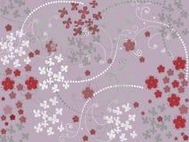 Sömlös modell med blommor Arkivbild