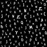 Sömlös modell med bokstäver som är skriftliga vid handen med en grov borste Skissa akvarellen, målarfärg, färgpulver ocks? vektor vektor illustrationer