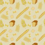 Sömlös modell med bröd stock illustrationer
