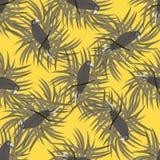 Sömlös modell med camuflagepapegojan Arkivfoto
