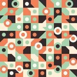 Sömlös modell med cirklar i fyrkanter Arkivbild