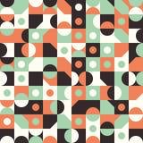 Sömlös modell med cirklar och halvcirklar Arkivbilder