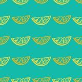 Sömlös modell med citronen Arkivbild