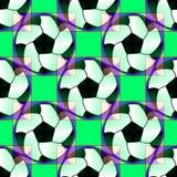 Sömlös modell med dekorativa bollar för en fotboll i ljusa genomskinliga färger Royaltyfri Bild
