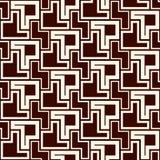 Sömlös modell med den enkla geometriska prydnaden Upprepad idérik pusselmosaikbakgrund Modern yttersidatextur vektor illustrationer