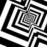 Sömlös modell med den svartvita tunnelen Fotografering för Bildbyråer