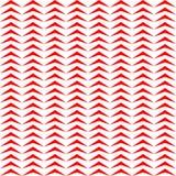 Sömlös modell med den symmetriska geometriska prydnaden Upprepade stiliserade röda trianglar på vit bakgrund Sicksackmotiv stock illustrationer