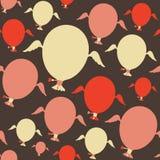 Sömlös modell med färgrika ballonger Royaltyfri Fotografi