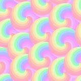 Sömlös modell med färgrika spiral Royaltyfri Illustrationer