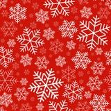 Sömlös modell med festlig bakgrund för snöflingavinter på nytt år och julmodellen för inbjudningar för hälsningkort royaltyfri illustrationer