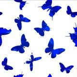 Sömlös modell med fjärilar Vektor Illustrationer
