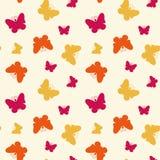Sömlös modell med fjärilar. stock illustrationer